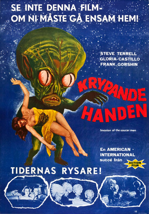 Affiche suédoise de 'Invasion of the Saucer Men'