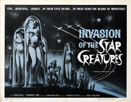 Affiche américaine de 'Invasion of the Star Creatures'