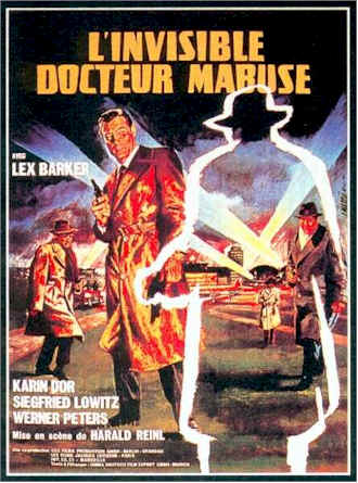 French poster from the movie The Invisible Dr. Mabuse (Die unsichtbaren Krallen des Dr. Mabuse)