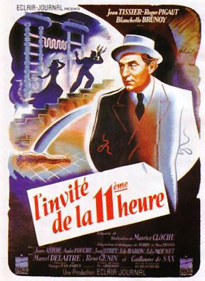 French poster from the movie The Eleventh Hour Guest (L'invité de la onzième heure)