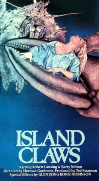 French poster from the movie Island Claws