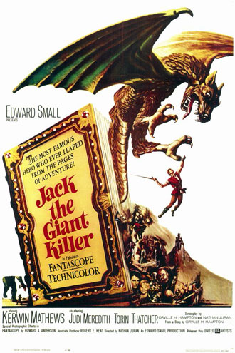French poster from the movie Jack the Giant Killer