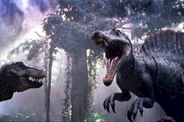 Fight between a T. Rex. and a Spinosaurus - Jurassic Park III (Jurassic Park III)