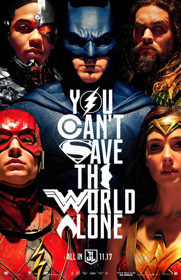 Us poster from the movie Justice League