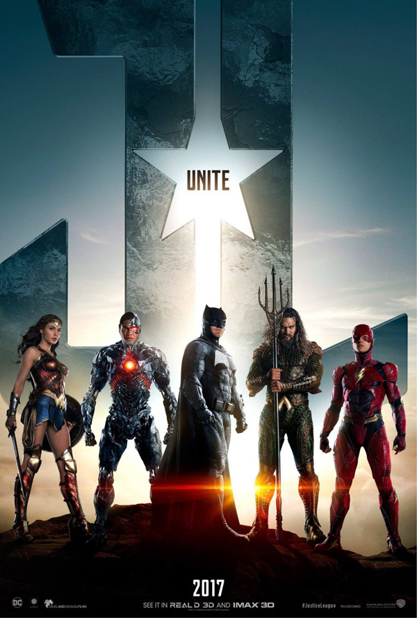 Affiche américaine de 'Justice League'