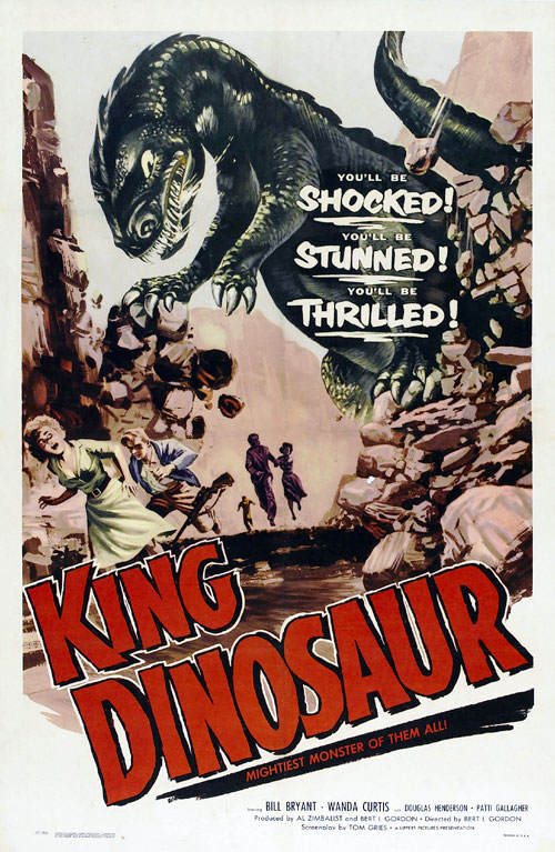 Us poster from the movie King Dinosaur