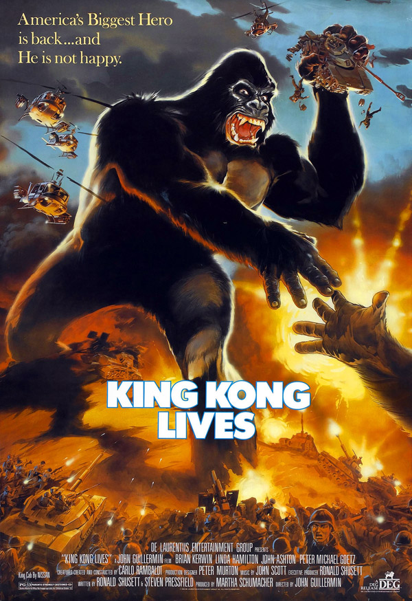 Us poster from the movie King Kong Lives