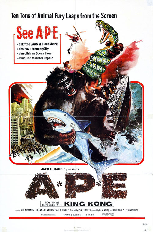 Us poster from the movie Ape