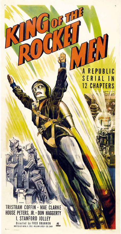 Affiche américaine de 'King of the Rocket Men'