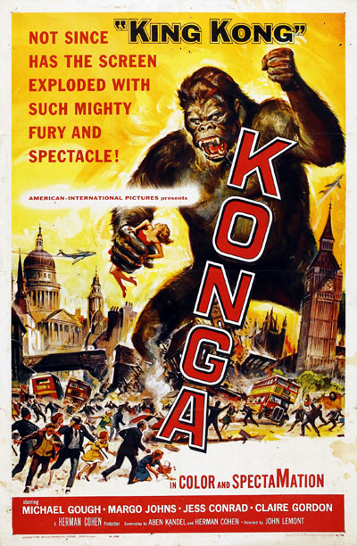 Us poster from the movie Konga