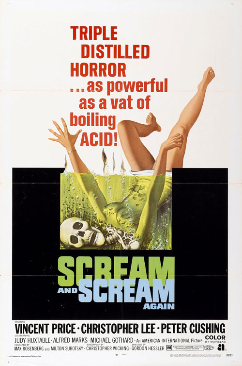 Us poster from the movie Scream and Scream Again