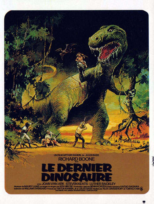 French poster from the movie The Last Dinosaur