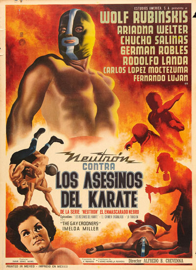 Unknown poster from the movie Neutron Battles the Karate Assassins (Los asesinos del karate)