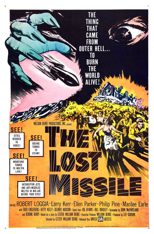 Affiche américaine de 'The Lost Missile'