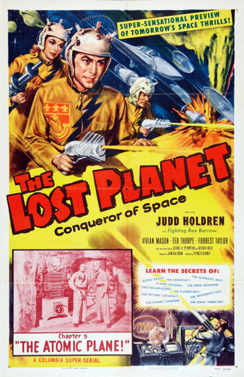 French poster from the series The Lost Planet