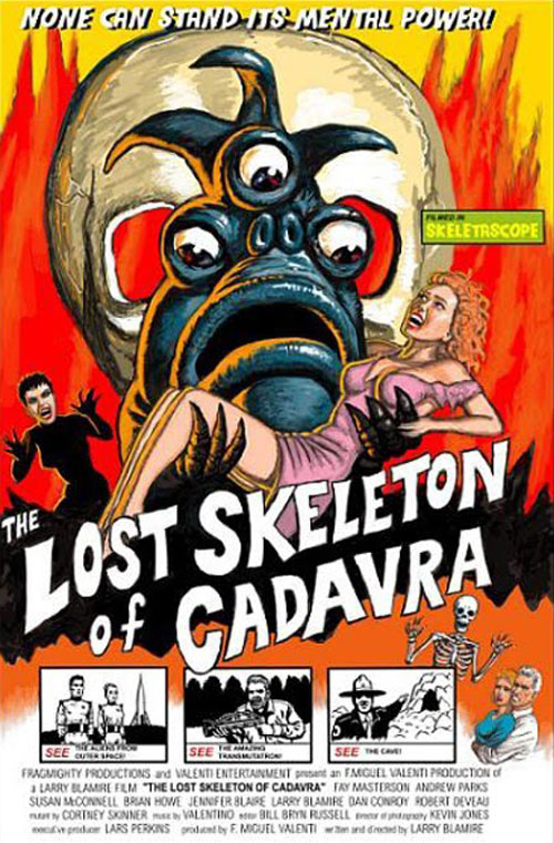 Affiche américaine de 'The Lost Skeleton of Cadavra'