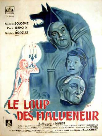 French poster from the movie Le loup des Malveneur