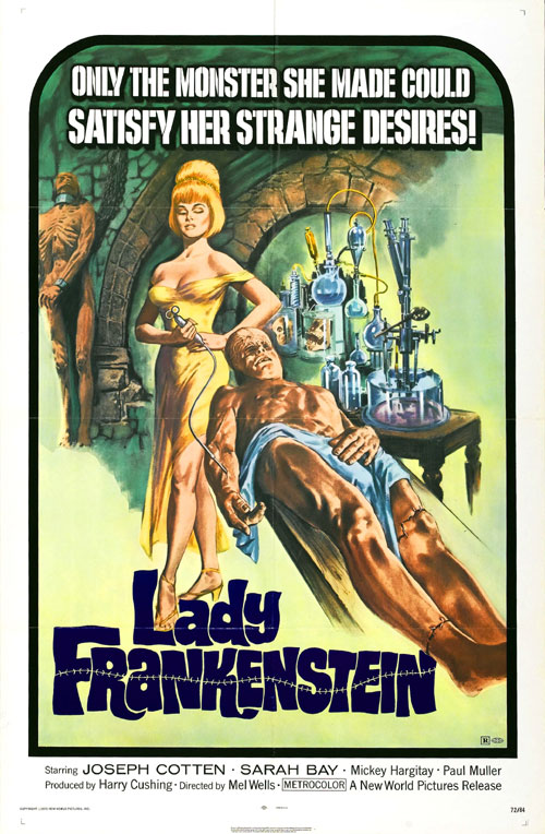 Us poster from the movie Lady Frankenstein (La figlia di Frankenstein)