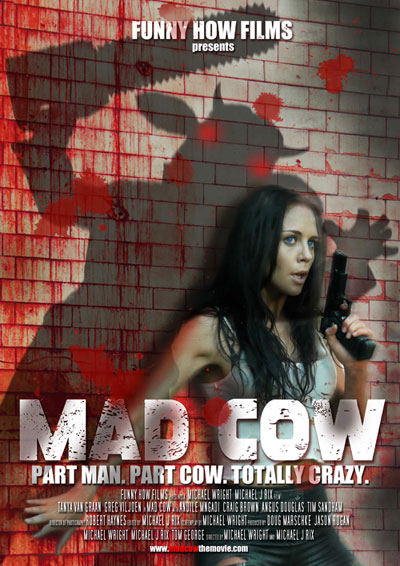 South african poster from the movie Mad Cow
