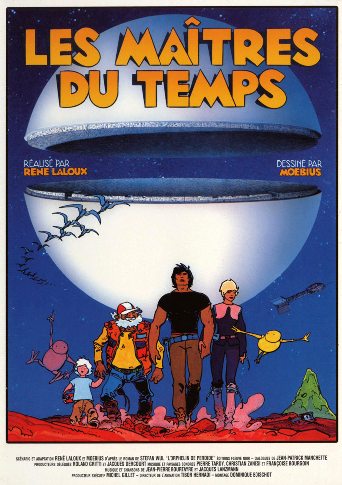 French poster from the movie Time Masters (Les maîtres du temps)