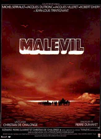 French poster from the movie Malevil