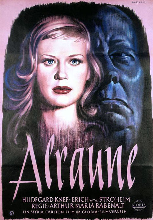 German poster from the movie Alraune