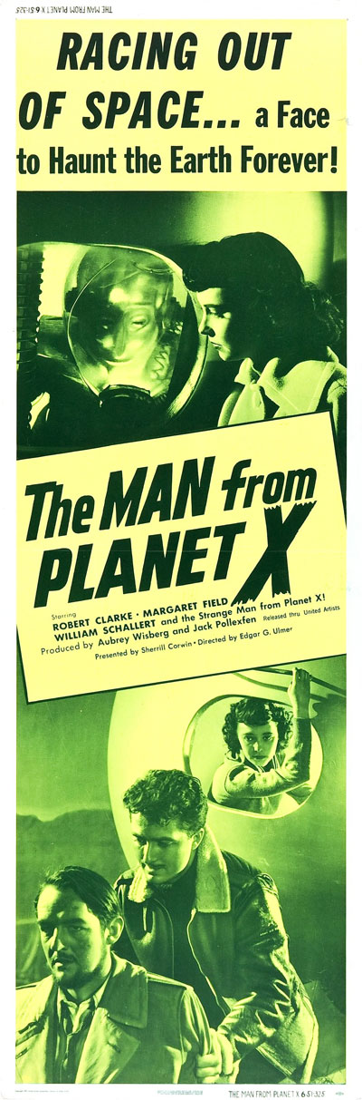 Affiche américaine de 'The Man from Planet X'