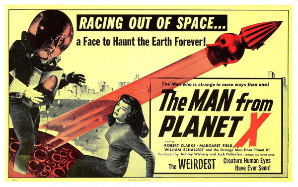 Affiche inconnue de 'The Man from Planet X'