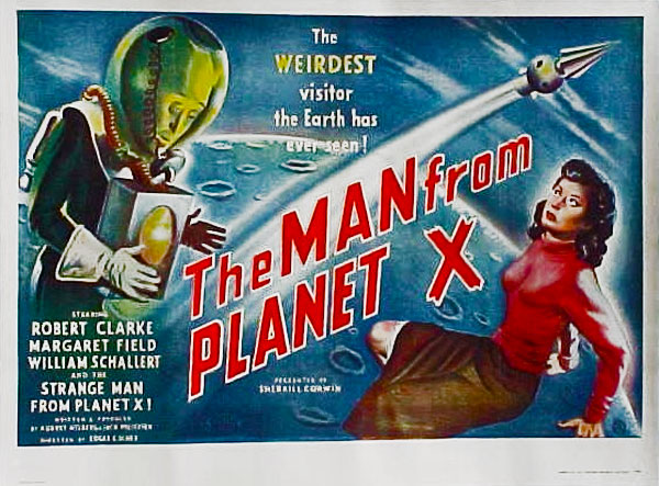 Affiche britannique de 'The Man from Planet X'
