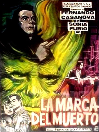 Mexican poster from the movie La marca del muerto