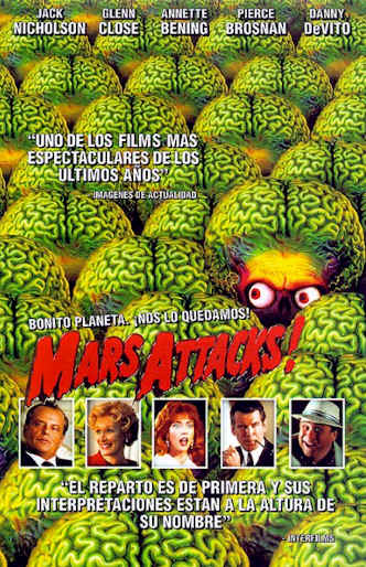 Affiche espagnole de 'Mars Attacks!'