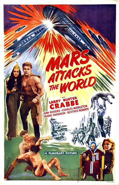 Us poster from the movie Mars Attacks the World