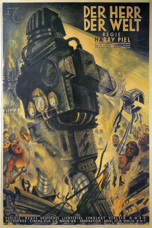German poster from the movie Master of the World (Der Herr der Welt)