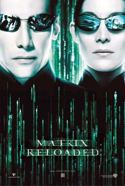 Affiche américaine de 'Matrix Reloaded'