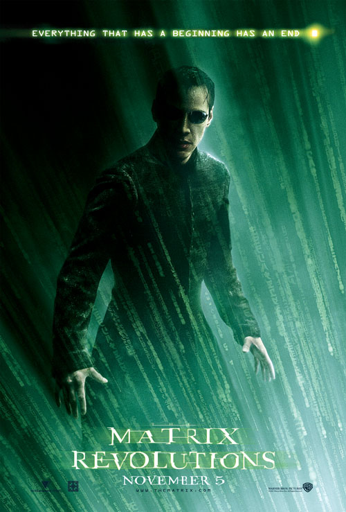 Affiche américaine de 'Matrix Revolutions'