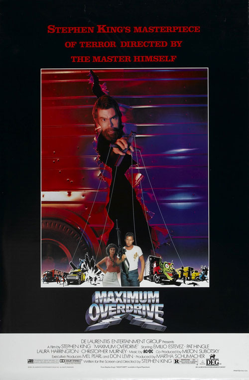 Us poster from 'Maximum Overdrive'