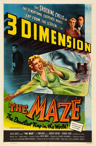Affiche américaine de 'The Maze'
