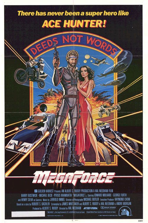 Us poster from the movie Megaforce