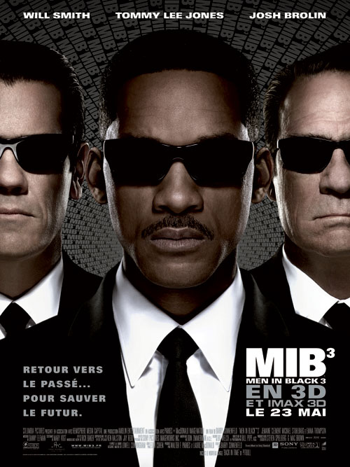 Affiche française de 'Men in Black 3'