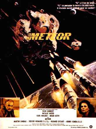 French poster from the movie Meteor