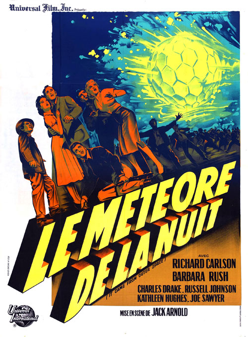 Affiche française du film Le météore de la nuit (It Came from Outer Space)