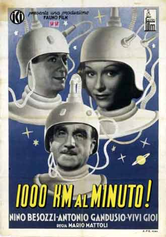 Italian poster from the movie Mille chilometri al minuto