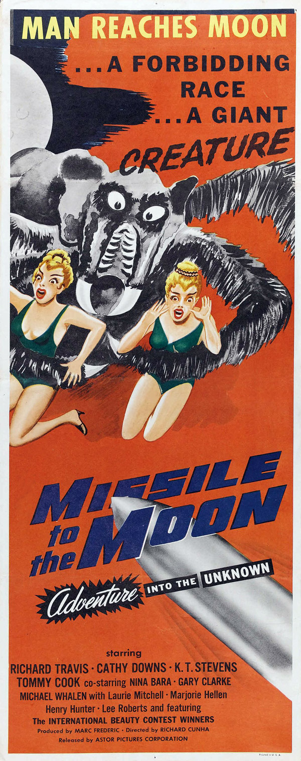 Affiche américaine de 'Missile to the Moon'