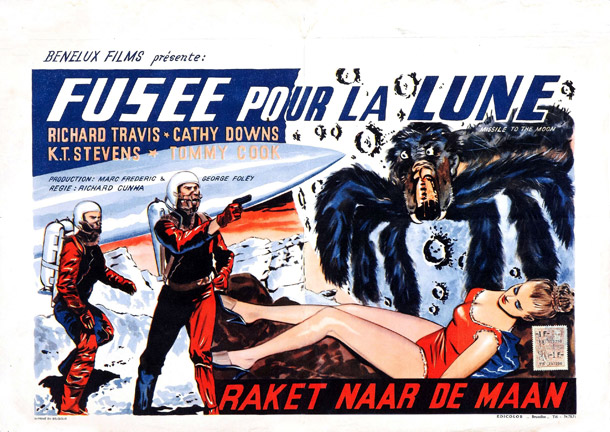 Affiche belge de 'Missile to the Moon'