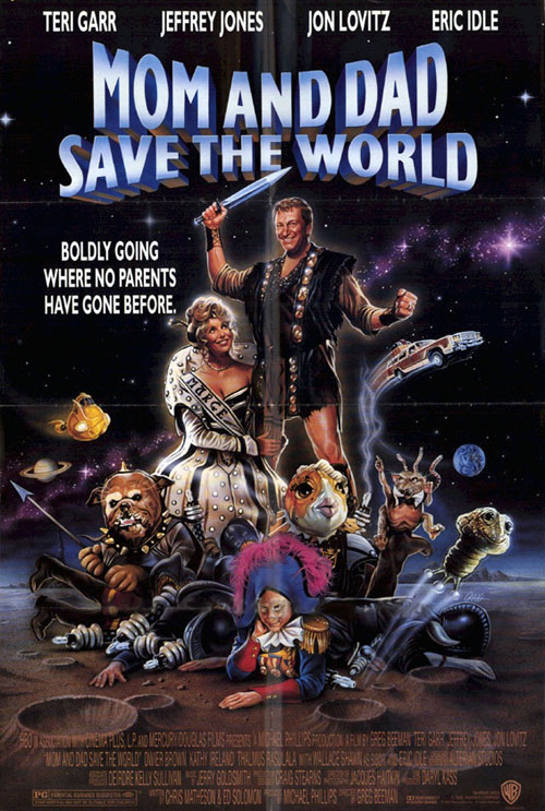 Affiche américaine de 'Mom and Dad Save the World'