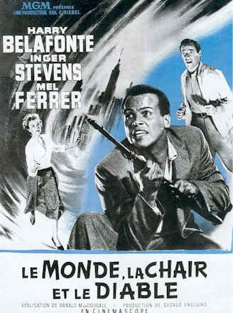 French poster from the movie The World, the Flesh and the Devil
