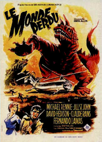 French poster from the movie The Lost World