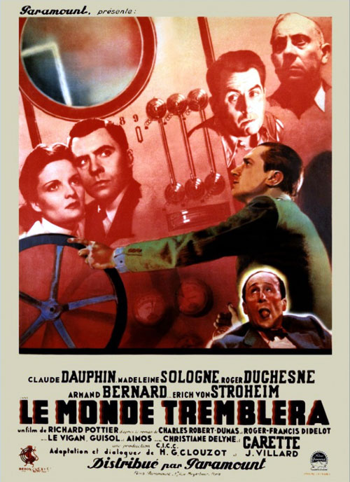 French poster from the movie The World Will Shake (Le monde tremblera)