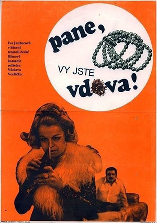 Czech poster from the movie Sir, You Are a Widow (Pane, vy jste vdova!)