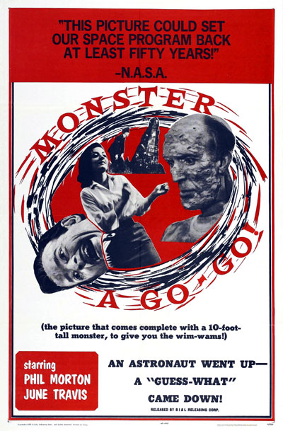 Us poster from the movie Monster a-Go Go